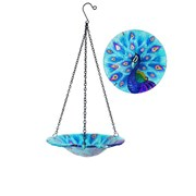 "Fountasia Hanging Bird Bath-peacock 8"" (36000)"